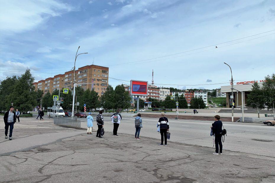 Медиа-экран на Комсомольской площади